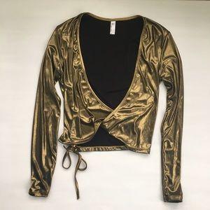 Gold Glitz Glam Tie-Around Top