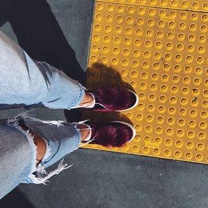 Sam Edelman Velvet Faux Fur Pom Pom Sneakers