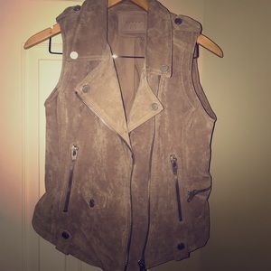 BlankNYC Real Leather Vest Size Medium
