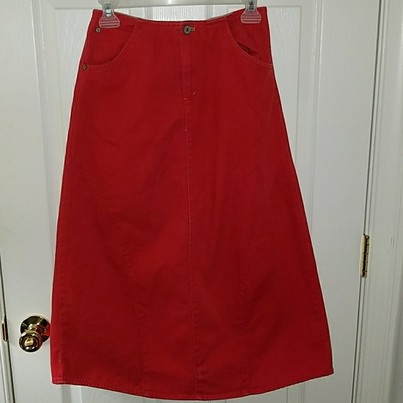 enjoy bottom price multiple colors matching in colour U2 red jeans skirt