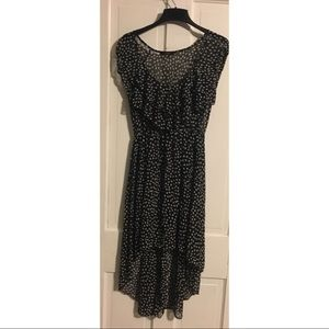 ALLOY Dresses & Skirts - Black with with dots high low ruffled dress