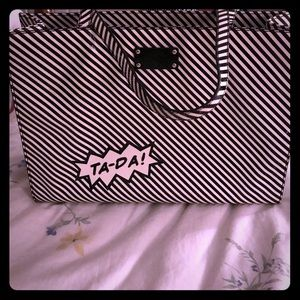 kate spade Handbags - Kate Spade TA-DA Black and White striped bag.