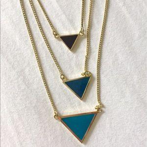 Jewelmint Jewelry - Three-tiered triangle necklace
