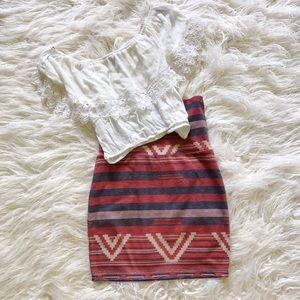 PacSun Desert Bodycon Skirt
