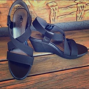 Cliffs by White Mountain Shoes - Wedges - Black Soooo Comfortable!!!! Worn Once!!!!
