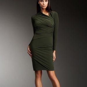 David Meister Dresses & Skirts - David Meister Jersey Asymmetric-Neck Dress NWOT