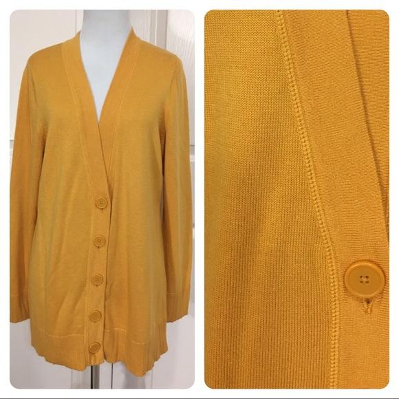b3f3196c1412 Coldwater Creek Sweaters - Coldwater Creek yellow gold cardigan.