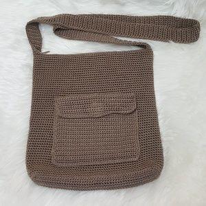 The Sak Handbags - THE SAK large crossbody tan crochet bag