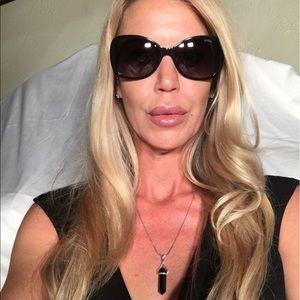 Versace Polarized Black & Gold Sunglasses