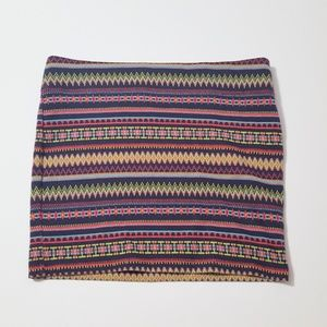 Nollie Dresses & Skirts - Boho Multicolor Stripe Stretchy Mini Skirt
