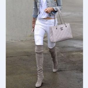 Black Orchid Pants - Black Orchid white ripped skinnies