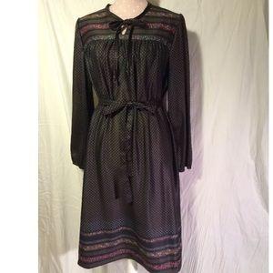 True Vintage 70's bohemian belted dress