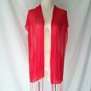 SIREN Red Stretchy Scarf