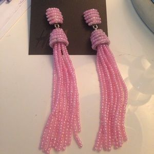 Pink tassel boho bohemian beaded earrings ZARA H&m
