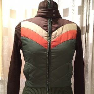 Liv Jackets & Blazers - Sweater Jacket with Chevron Print