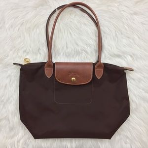 Longchamp Handbags - Longchamp Le Pliage Medium Chocolate Brown Bag