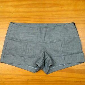 Stoosh Pants - STOOSH dress grey cuffed shorts Junior size 1
