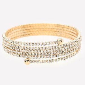 bebe Jewelry - Bebe Crystal Wrap Bracelet NWT
