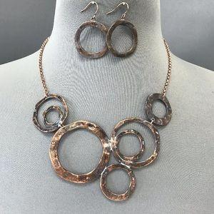 4R Jewelry - Stunning BoHo style copper patina hammered set