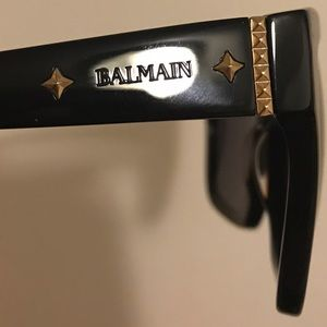Balmain Accessories - BALMAIN Women Men Rockstud Gold Star Sunglasses FR