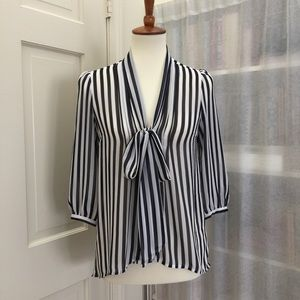 Sheer striped UO blouse