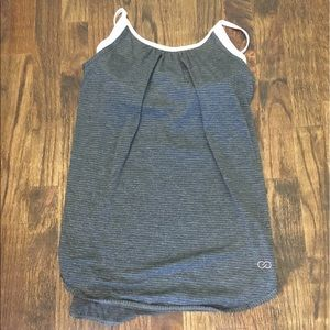 CALIA by Carrie Underwood Tops - Calia strappy grey workout tank with bra inside