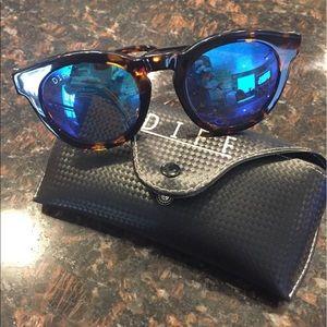 Diff Eyewear Accessories - Diff Dime II Tortoise/Blue/Mirrored/Polarized