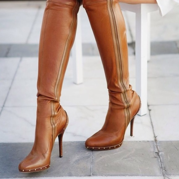 Gucci By Tom Ford Brown Leather Boots