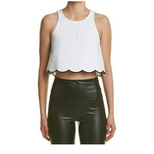 Kendall & Kylie Tops - Kendall and Kylie scallop hem crop top