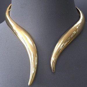 Vera Jewelry - Gold finish urban style open choker necklace
