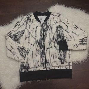 RBX Jackets & Blazers - Black & white marble bomber jacket. Bomber jacket