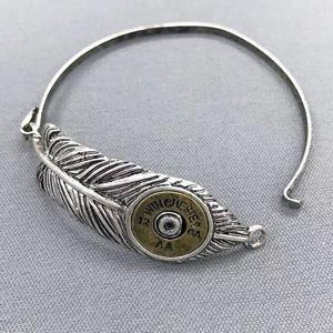 Hanee Jewelry - Antique silver gold Winchester 12 ga AA leaf brac