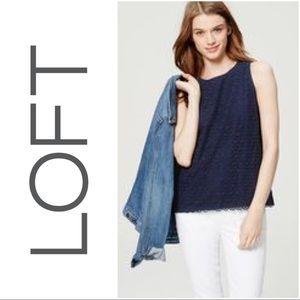 • { LOFT } • lace tank blouse. Size: M.