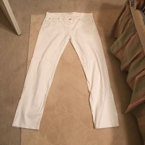 7 For All Mankind Denim - 7 for all mankind straight leg jeans size 40 white