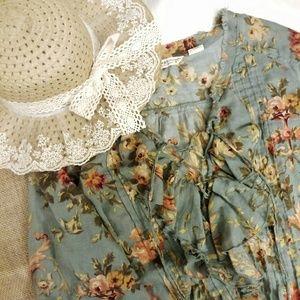 Denim & Supply Ralph Lauren Tops - Denim & Supply RL Floral Print Ruffled Blouse