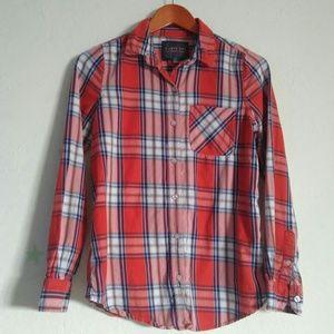 I Love H 18 plaid button down shirt