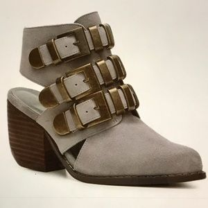 N.Y.L.A. Shoes - N.Y.LA Gray Ankle Booties