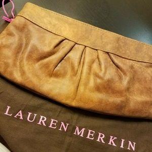 Lauren Merkin Handbags - GREAT Lauren Merkin Distressed Leather Clutch