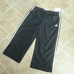 Adidas Pants - Adidas 3S Black/White Wind Capri Pants Medium