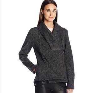 Sebby Jackets & Blazers - NWT Women's Tweed Fleece Drape Zip up Coat LARGE