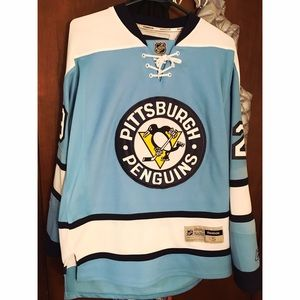 Reebok Tops - Penguins Fleury Official NHL jersey
