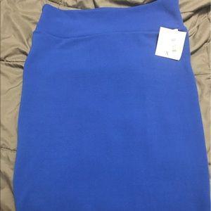 LuLaRoe Cassie XL Skirt- Solid Royal Blue BNWT