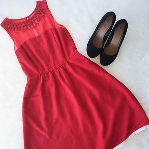Anthropologie Dresses & Skirts - 🆕Maeve Red Lattice Dress