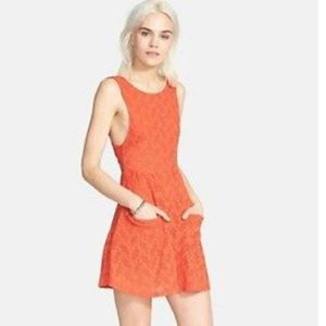 Free People Lace Poppy Mini Pocket Dress