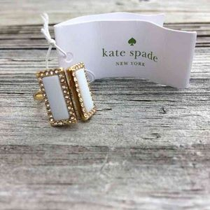 kate spade Jewelry - Kate Spade Gold and Cream Ring
