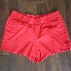 J. Crew Factory boardwalk red shorts 4 in inseam