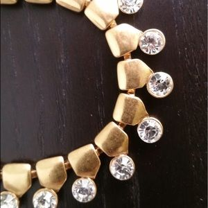 J.Crew Golden and Crystal Necklace