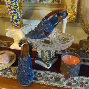 Lanvin Shoes - LANVIN ETE' 2009 Denim Distressed Heels/ FLASH SAL