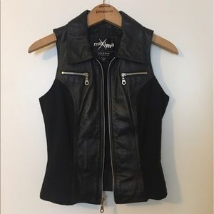 Wilsons Leather Jackets & Blazers - Zip-up leather vest from Wilsons Leather.