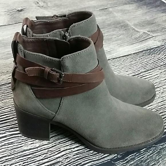 b2a4f9dd8 Sam Edelman Hannah Grey boots 8.5